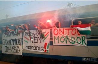 Romania - Ungaria: Mesaje revoltatoare si scandari dure la adresa romanilor ale fanilor maghiari (Video)