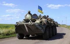 Ucraina: Armata a cucerit principalul bastion al separatistilor. Steagul ucrainean flutura pe reduta rebela