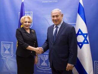 """Viralul zilei: Dancila raspunde """"He, he!"""", la salutul lui Netanyahu (Video)"""