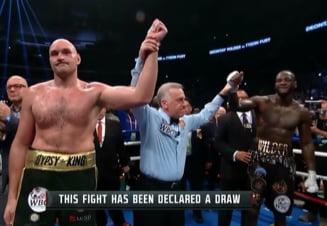 """Wilder vs. Fury: Remiza controversata in """"lupta anului"""" in box"""