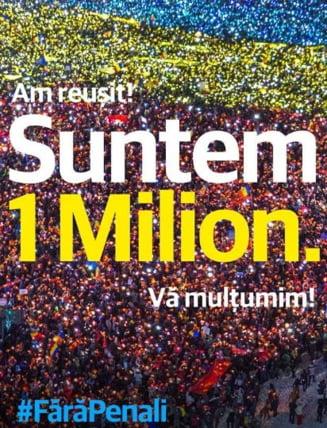 #Fara penali a atins pragul de 1 milion de semnaturi: Se lucreaza la ... legarea dosarelor cu sfoara, conform legii