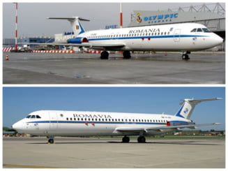 """FOTO Doua avioane ROMBAC, fabricate pe vremea lui Ceausescu, clasate in patrimoniul national la categoria """"tezaur"""""""