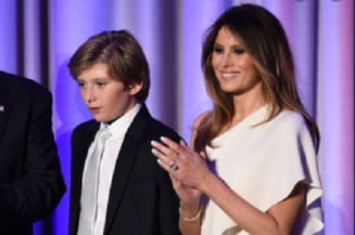 """FOTO Imaginea macabra cu care Melania Trump si-a aniversat fiul. Internautii au """"taxat-o"""" imediat"""