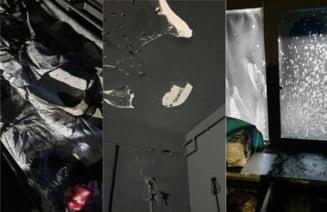 FOTO Primele imagini din pavilionul ars de la Bals, in care au murit carbonizati cinci oameni