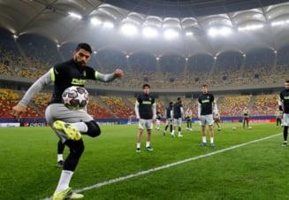 "FOTO Vedetele de la Atletico Madrid s-au antrenat pe ""Arena Nationala"". Uruguayanul Luis Suarez, in prim-plan"
