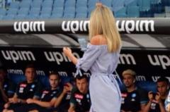 """FOTO Vlad Chiriches a patit-o si el. Cine e jurnalista care ii """"hipnotizeaza"""" pe fotbalisti. Imagini virale"""