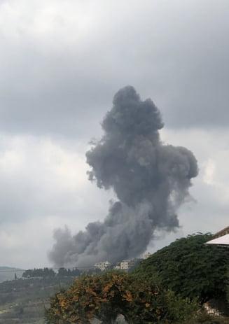 """FOTO VIDEO Explozie puternica in sudul Libanului. """"Tot satul a fost zguduit"""""""
