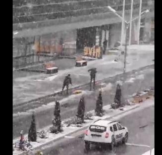FOTO/VIDEO Meteorologii prelungesc, pana la ora 23:00, atentionarea Cod galben de ninsori pentru estul si sud-estul Munteniei si Dobrogea