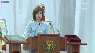 "VIDEO Ceremonia de investire a Maiei Sandu, noul presedinte al Republicii Moldova. ""Vreau sa devenim o tara in care oamenii vor sa traiasca"""