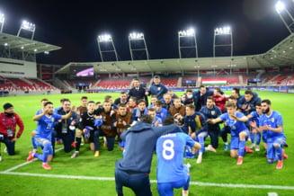 VIDEO Cum au petrecut jucatorii lui Adrian Mutu dupa victoria in fata Ungariei de la EURO