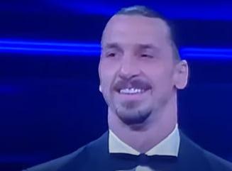 """VIDEO Imagini colosale cu Zlatan Ibrahimovic pe scena Festivalului de la Sanremo. """"Zlatan, sunt 26 de artisti. Nu, sunt 22, restul de 4 ii trimitem la Liverpool ca ei cauta fundasi"""""""