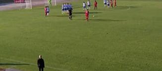 VIDEO Ireal. Gol anulat incredibil in Liga 2. Echipa lui Dragnea, avantajata pe fata