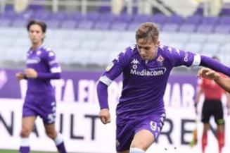 VIDEO Magnific. Romanul de la Fiorentina a dat doua goluri cu AC Milan si calca pe urmele lui Mutu