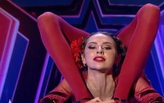 """VIDEO Numar uluitor la """"Romanii au talent"""". O fosta gimnasta s-a contorsionat pe scena. Reactia Alexandrei Dinu"""