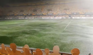 VIDEO O ploaie zdravana a oprit meciul Villareal - Maccabi Tel Aviv din Europa League