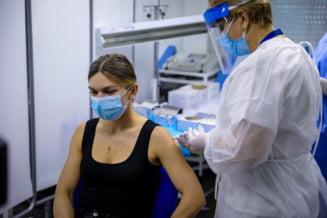 """VIDEO Primele imagini cu Simona Halep la vaccinul anti COVID-19. """"Sper ca poate sa convinga si alte persoane"""""""