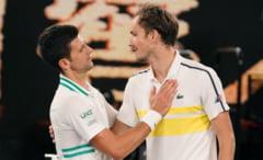 """VIDEO Reactii savuroase dupa finala de la Australian Open. Djokovic l-a """"certat"""" pe Medvedev. Cum i-a raspuns rusul"""