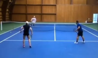 VIDEO Senzational. Punctul anului a fost jucat de Simona Halep la antrenament. Lovitura magica a romancei