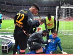 VIDEO Silviu Lung junior a plans de durere in Turcia. Portarul roman fost cel mai bun jucator contra lui Galatasaray, dar a iesit accidentat