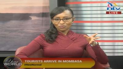 VIDEO Televiziunea din Kenya a transmis in direct sosirea turistilor romani