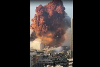 """VIDEO Explozia din Beirut Filmarea care arata dimensiunea dezastrului: """"Am vazut o minge de foc si fum ridicandu-se deasupra orasului"""""""