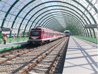 """VIDEO UPDATE Primul tren care a testat noua linie de la Aeroportul Otopeni este al unui operator privat. """"Au raspuns mai prompt la solicitarea noastra decat cei de la CFR Calatori"""". CFR sustine ca nu a primit nicio solicitare"""