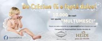 10.000 de ciocolate gratuite, de Craciun, pentru copiii saraci