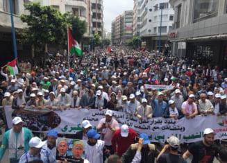 10.000 de oameni au protestat in Maroc fata de mutarea ambasadei SUA la Ierusalim (Foto&Video)