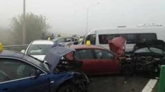 11 soferi implicati in accidentul mortal de pe A2, pusi sub urmarire penala