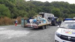 150 de metri cubi de gunoaie, care cantaresc 50 de tone, au fost stranse de 1.200 de voluntari din Padurea Faget