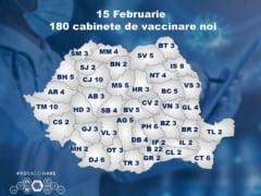 180 de noi cabinete pentru vaccinarea cu AstraZeneca de saptamana viitoare. Inscrierile se pot face incepand cu 10 februarie