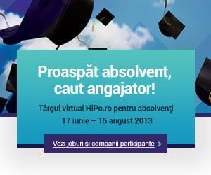 200 de locuri de munca vacante la Targul Virtual Hipo.ro