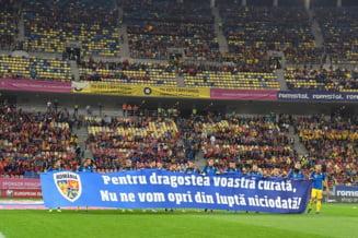 25 de copii romascani i-au sustinut pe tricolori in meciul cu Norvegia, pe Arena Nationala
