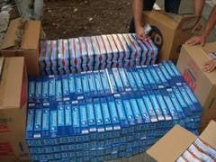35.000 de pachete de tigari confiscate in vama Giurgiu