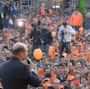 400 de politisti si jandarmi mobilizati pentru mitingul lui Basescu
