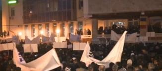 5.000 de mineri si energeticieni au protestat la Targu Jiu: Au cerut demisia lui Ponta