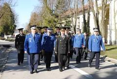 6 elevi in practica la Jandarmeria Sibiu