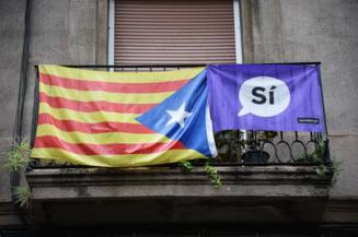 90% dintre catalanii care au votat sunt pentru independenta fata de Spania. 844 de oameni au fost raniti in violente