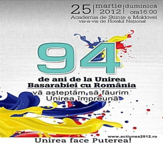 94 de ani de la unirea Basarabiei cu Romania - tensiuni, marsuri si concerte