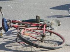 A cazut de pe bicicleta din cauza alcoolului!