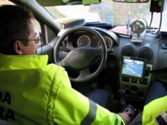 """A dat """"peste cap"""" radarul politistilor cu 130 km/h pe Calea Bucuresti"""