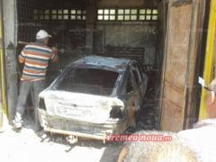 A dat foc propriei masini si garajului Vamii Albita, iar acum e bun de plata!