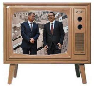 A doua dezbatere Ponta-Iohannis: Coruptii din partide au confiscat discutiile