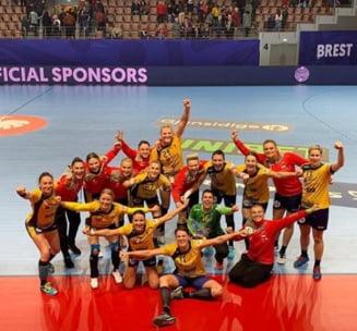 A doua miza a meciului Romania - Ungaria, de la Campionatul European de handbal