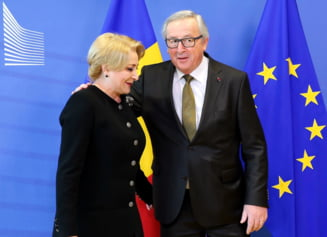 A doua oara a reusit: Viorica Dancila l-a asteptat o ora pe Juncker pe aeroport, dar cei doi s-au intalnit