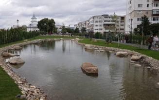 """A fost deschis parcul """"Iazul Morilor"""". Cum a fost modernizat un tronson al strazii Frasinet VIDEO"""
