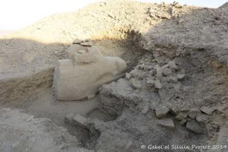 A fost descoperit un sfinx cu cap de berbec, proiect abandonat de bunicul lui Tutankamon (Foto)