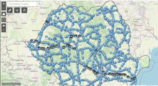 A fost lansată aplicaţia pentru parcările şi spaţiile de servicii de pe drumurile naţionale şi autostrăzi