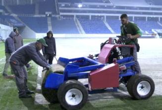 A inceput montarea gazonului pe noul stadion din Craiova