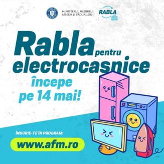 A inceput programul Rabla pentru Electrocasnice: Pana cand se mai pot face inscrieri pe platforma Ministerului Mediului